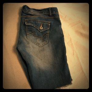 Pants - rue 21 distressed Bermuda denim shorts size 5/6